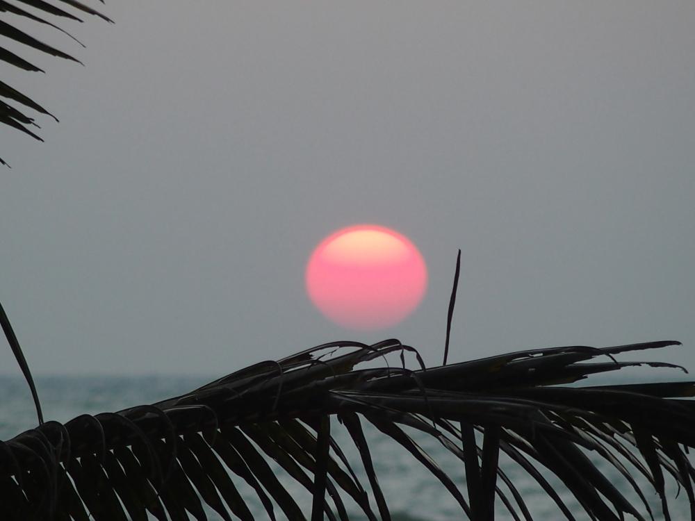 Coucher de soleil à Negombo... sans trucage
