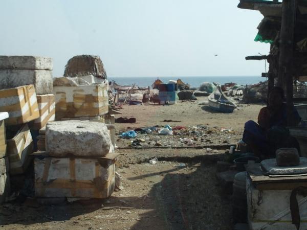 La plage de Chennaï